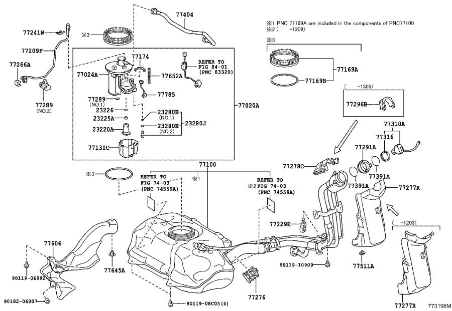 2007 Toyota Camry Regulator assembly, fuel pressure. Cnd