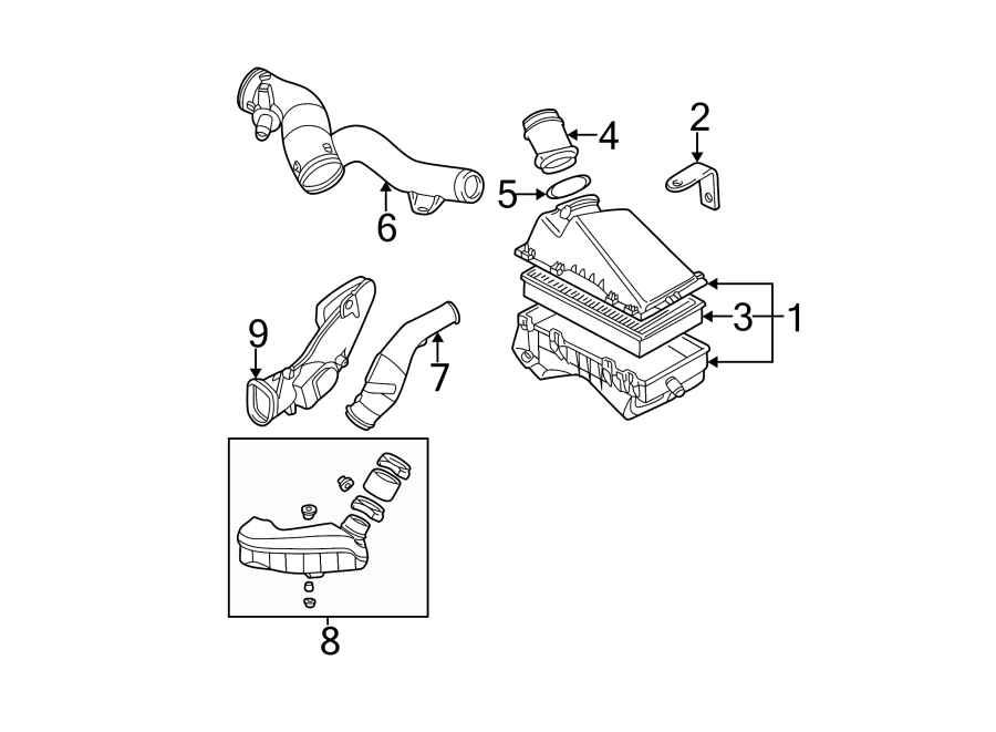 2000 Volkswagen Jetta GL 2.0L A/T Mass Air Flow Sensor