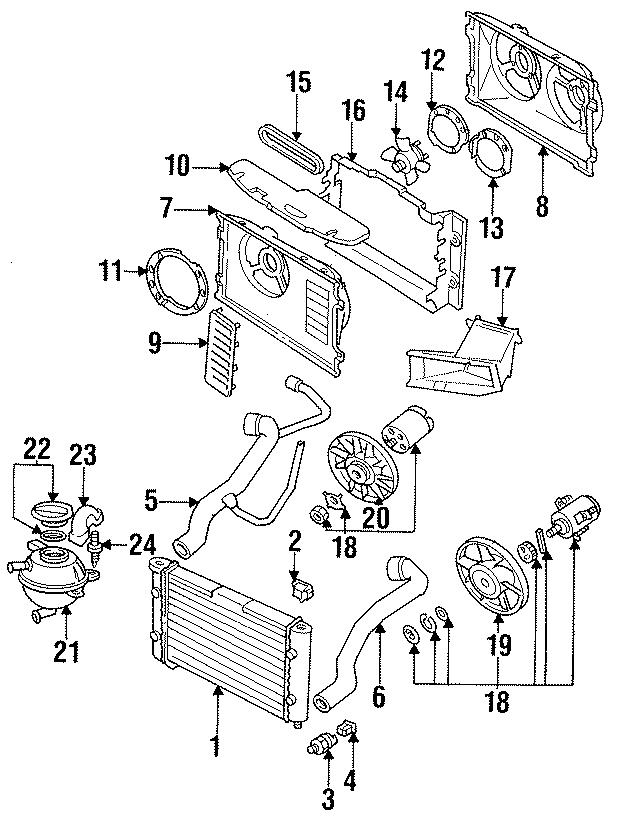 1998 Volkswagen Jetta Engine Cooling Fan Blade. CYLINDER