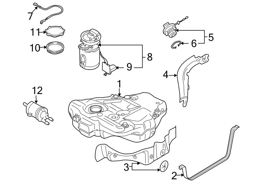 2007 Volkswagen Fuel Pressure Regulator. Fuel Pump Filter