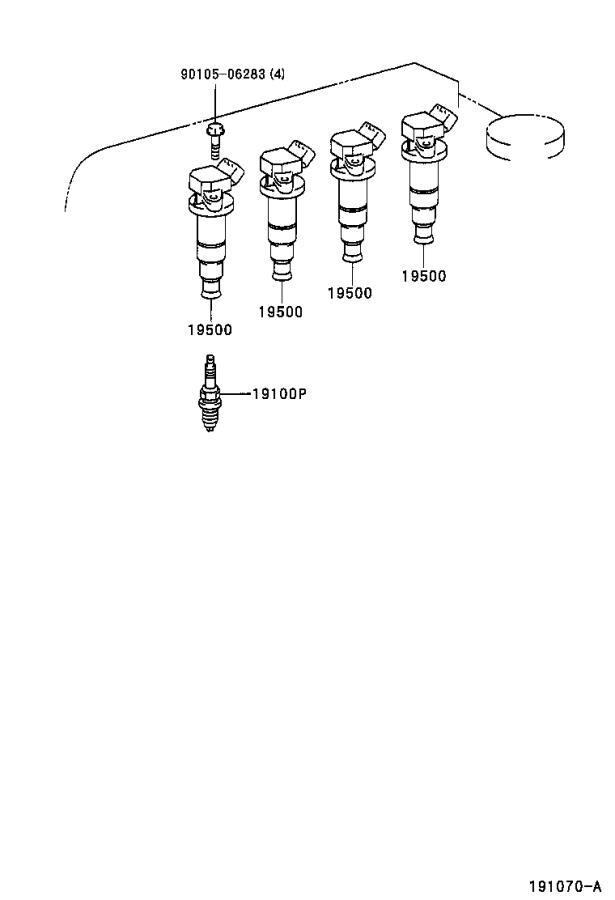 Toyota Corolla Spark Plug Wire Set. Cord Set, Coil and