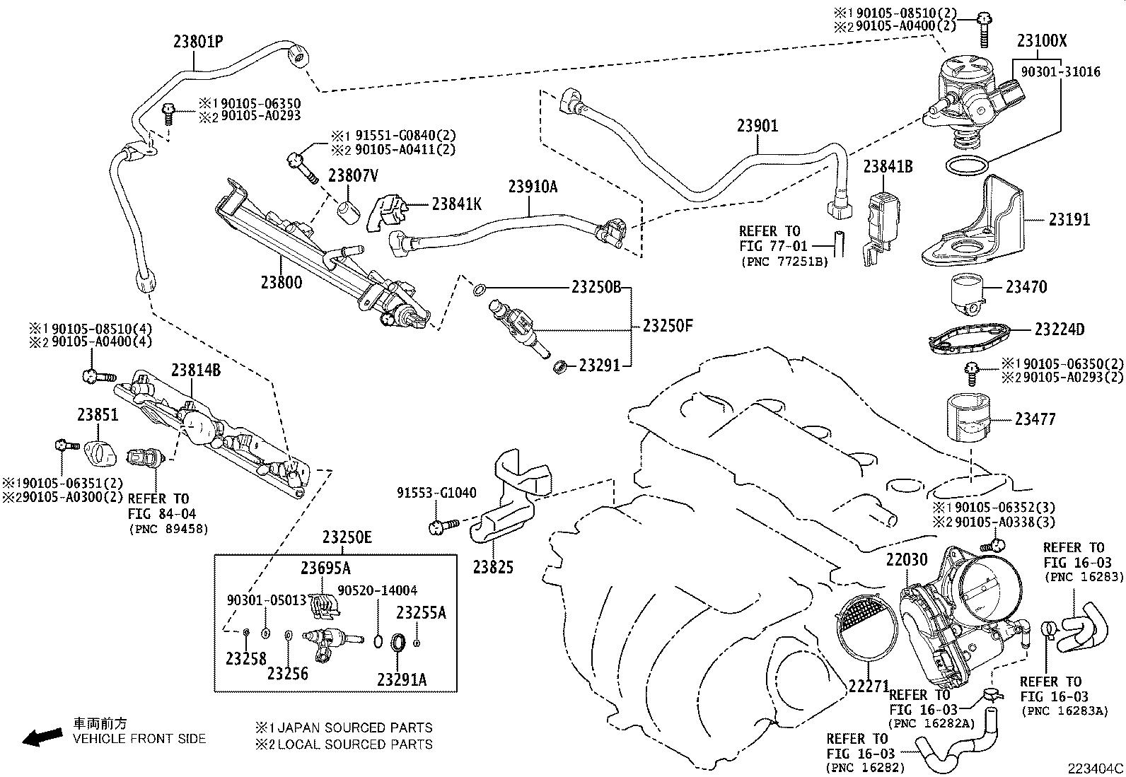 Toyota Camry Fuel Injector. Injector Set, Fuel. Injector