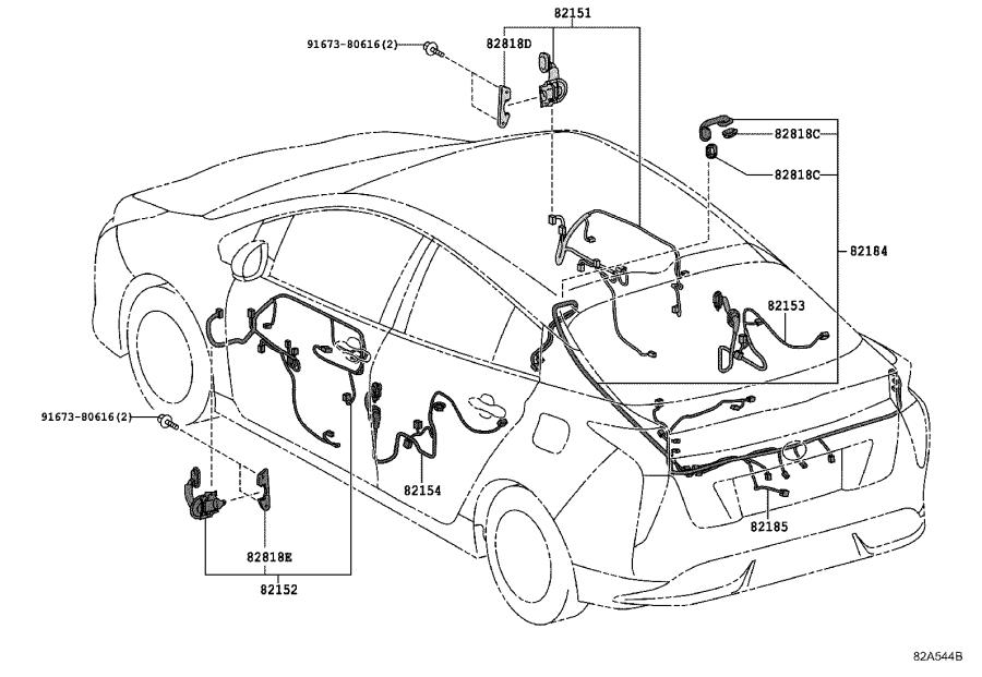 Toyota Prius Wire, instrument panel. Connecter, collision