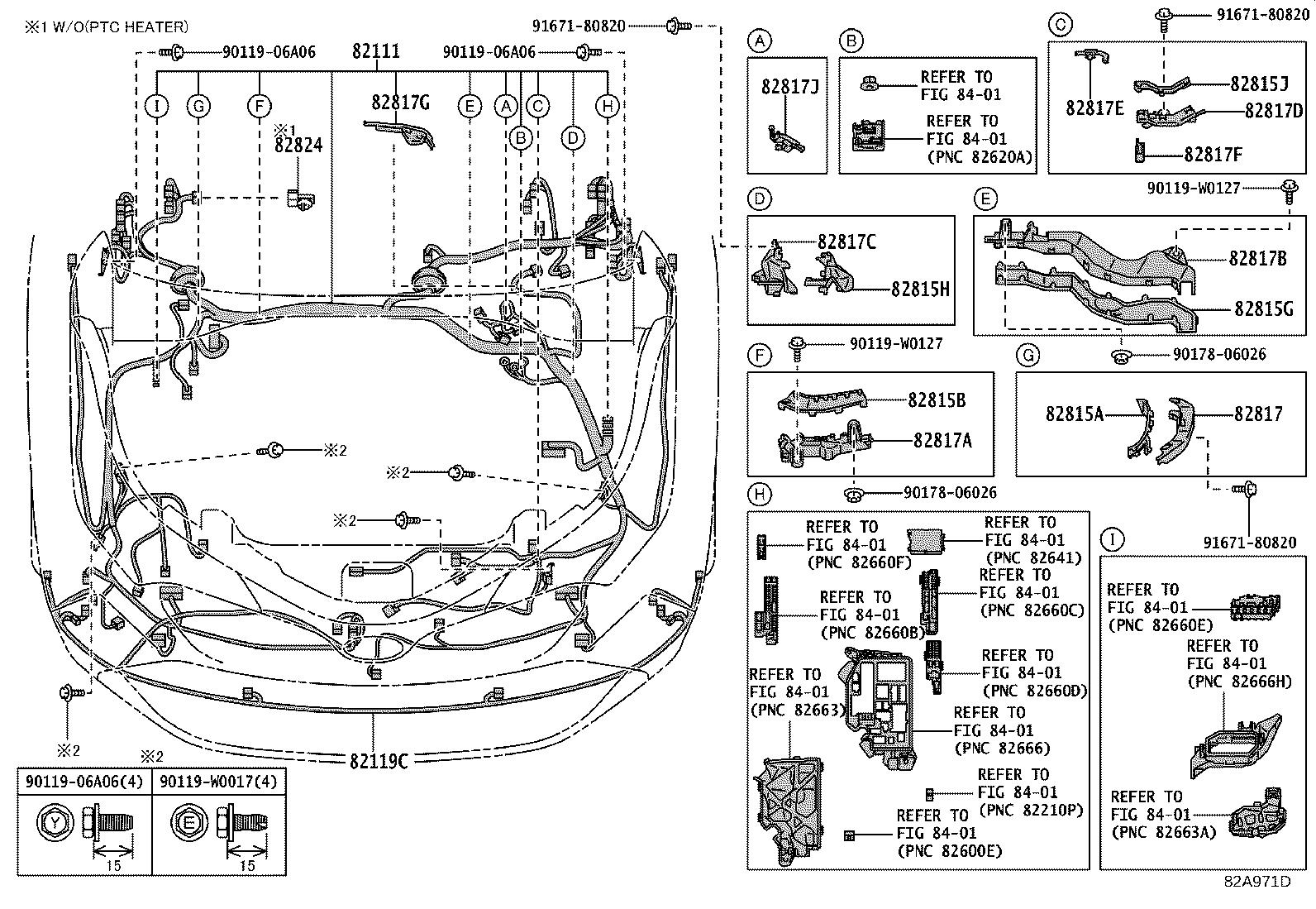 Toyota C Hr Protector Wiring Harness No 1 Wiring