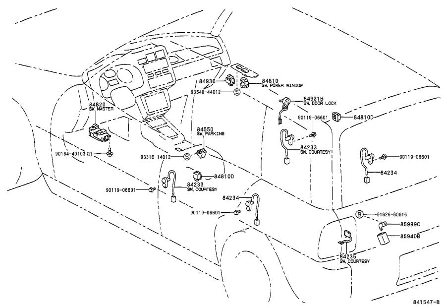 Toyota RAV4 Relay, power steering. Switch, electrical