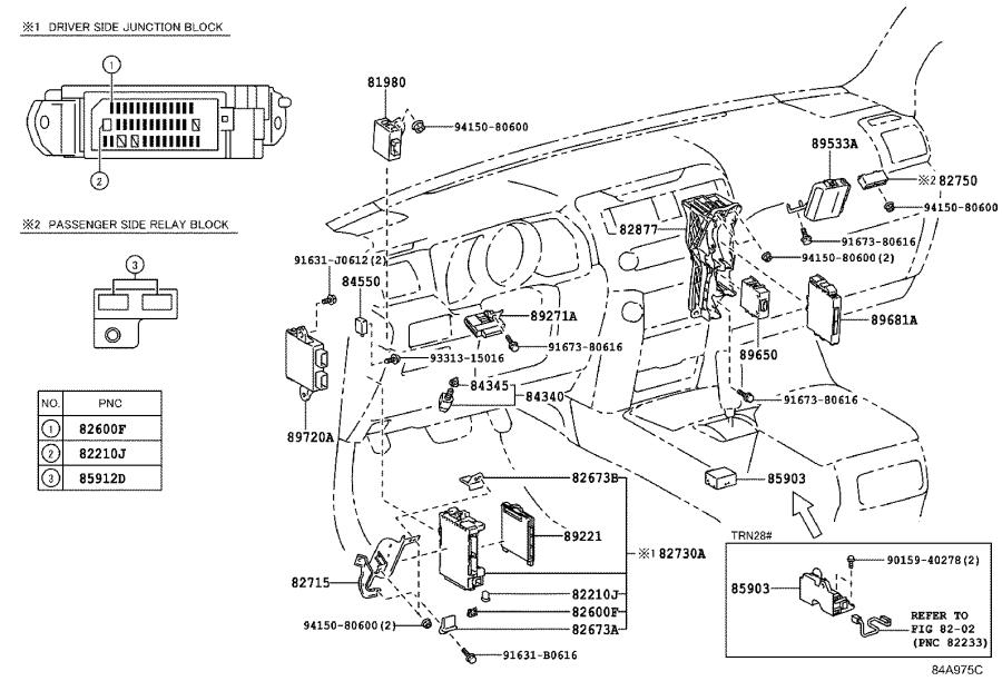 Toyota 4Runner Block assembly. Relay; relay, engine room