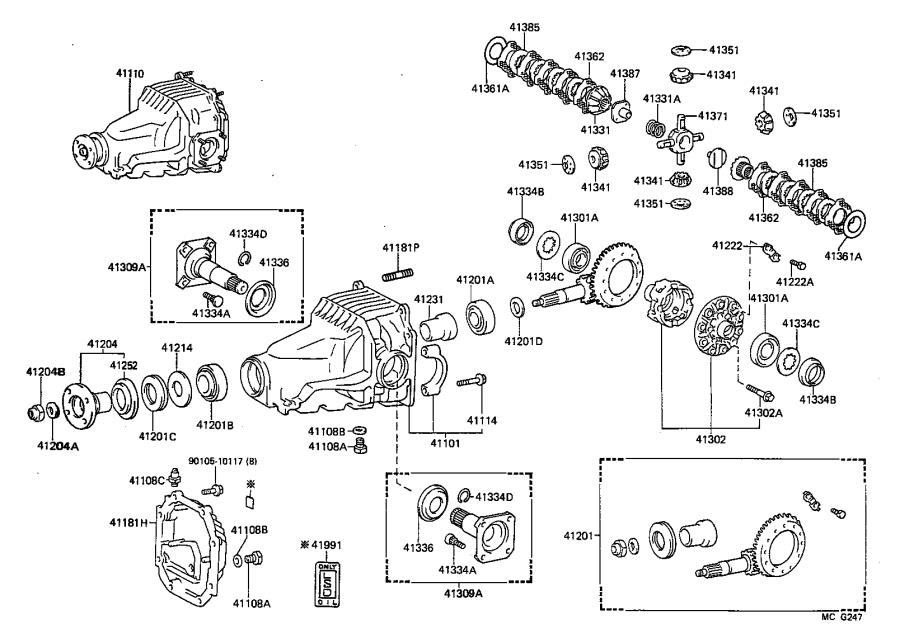 Toyota Supra Shaft; shaft sub-assembly. Differential side