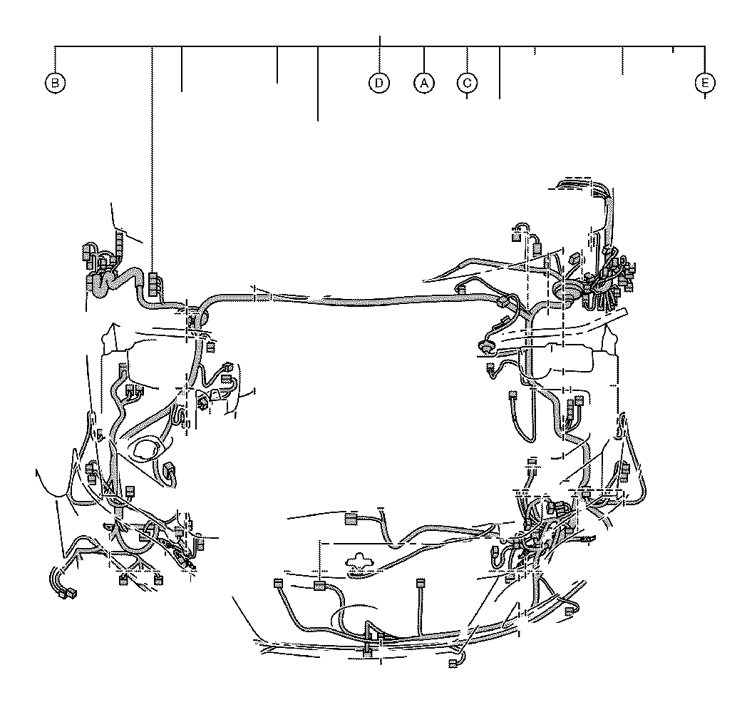 Toyota Highlander Connector, wiring harness. Engine, clamp