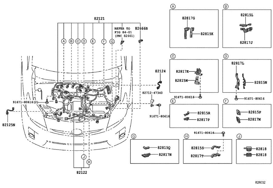 Toyota Prius Wire, instrument panel. Engine, connector
