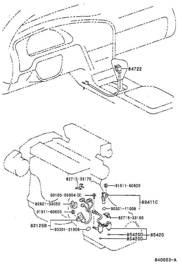 Toyota Avalon Wire, transmission. Atm, usa, electrical