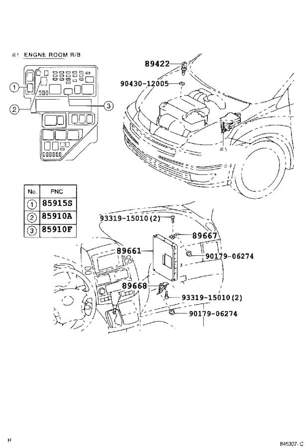 Toyota Sienna Computer, engine control. Electrical, usa