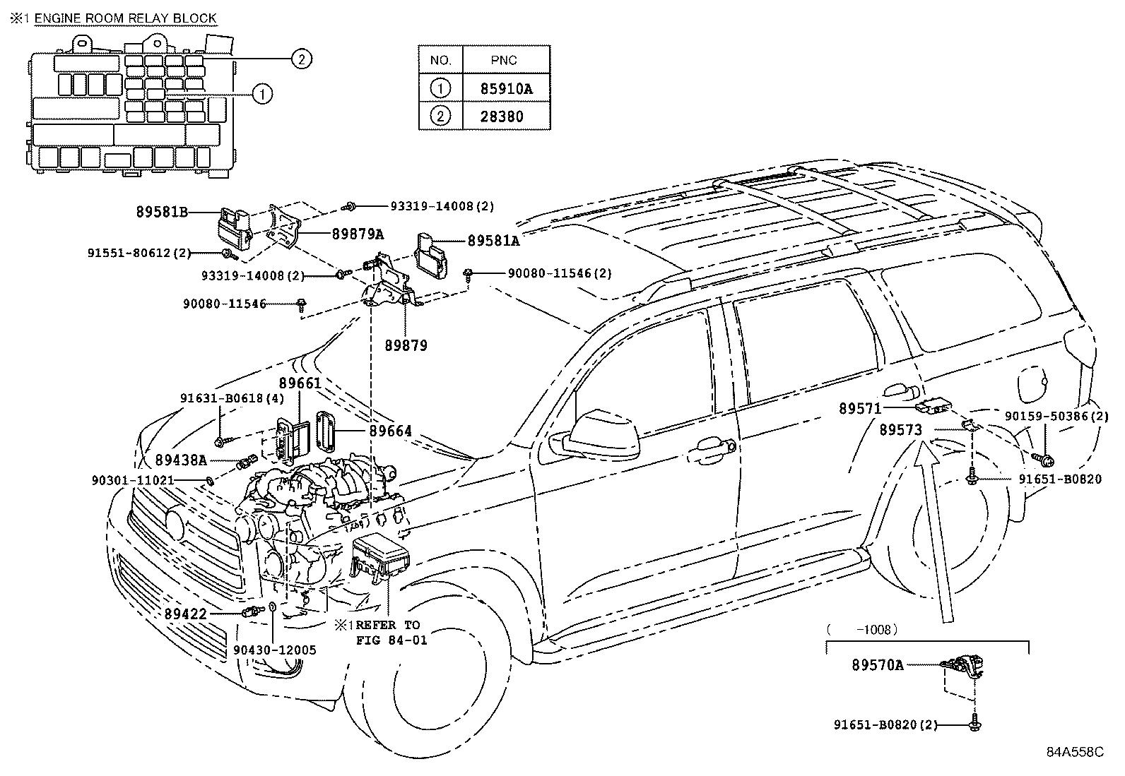 Toyota Sequoia Computer, engine control. Electrical