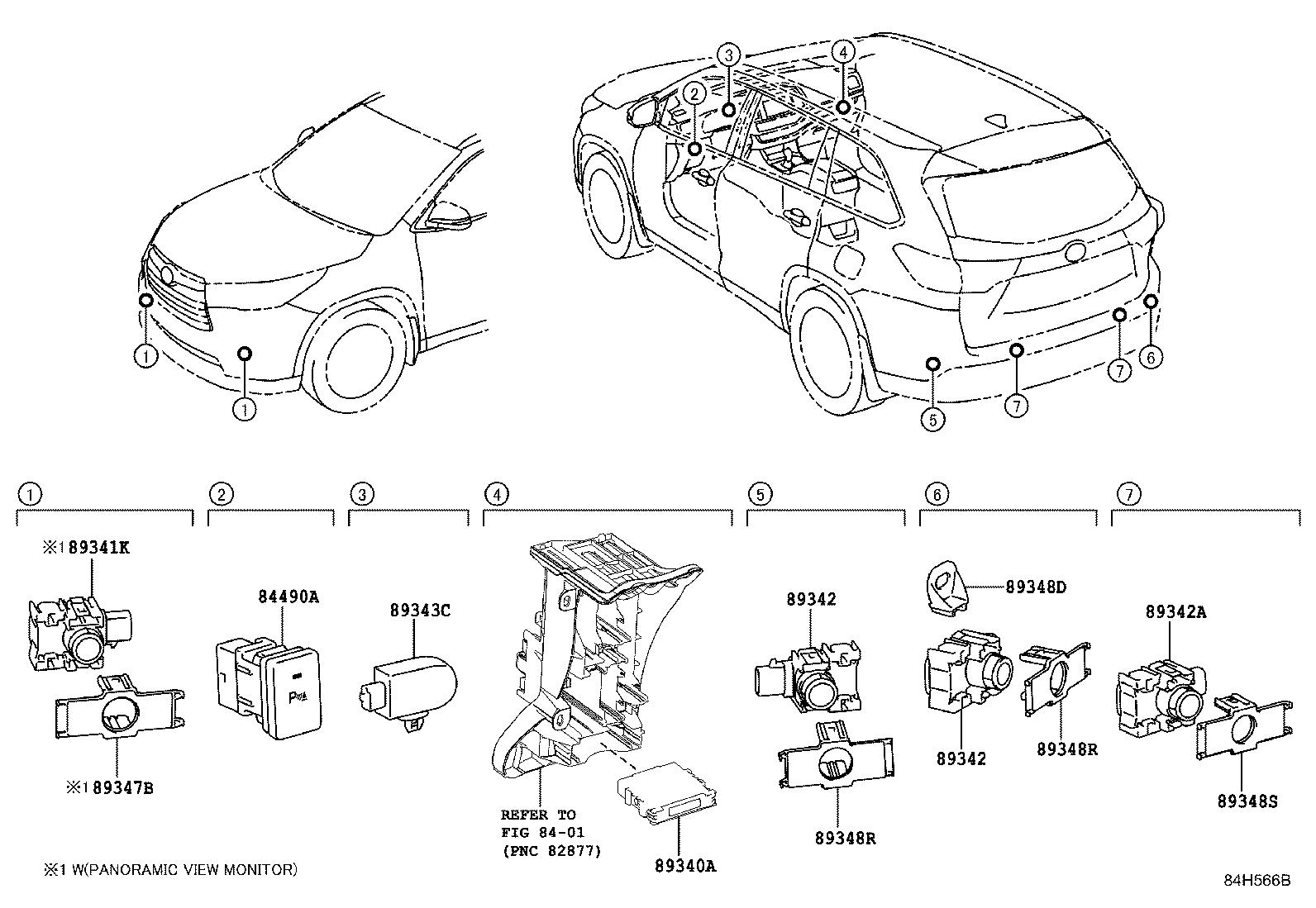 Toyota Highlander Computer Assembly Clearance Warning
