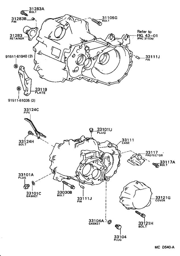Toyota Camry Cover sub-assembly, manual transmission case