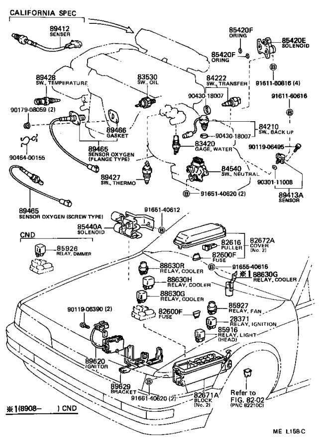 Toyota Camry Breaker assembly. Wiring circuit, no. 1