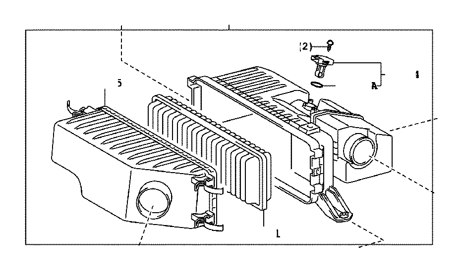 Toyota Highlander Cleaner assembly, air. Engine