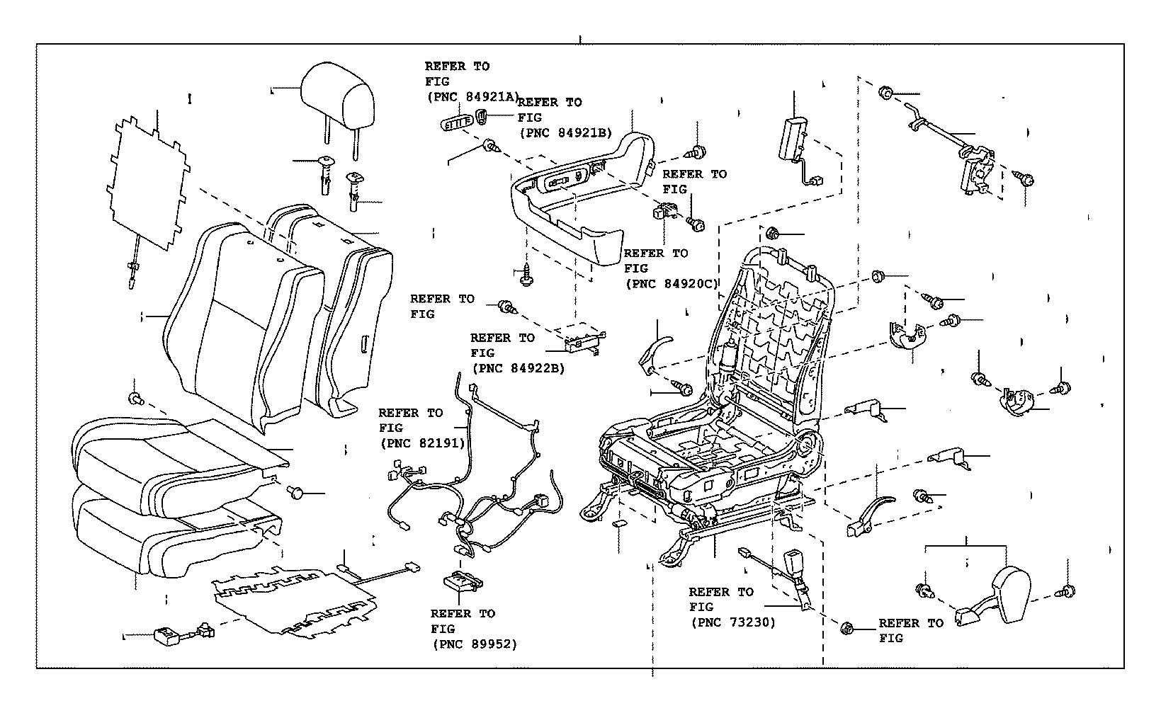 Toyota Tundra Seat assembly, front right. Gray