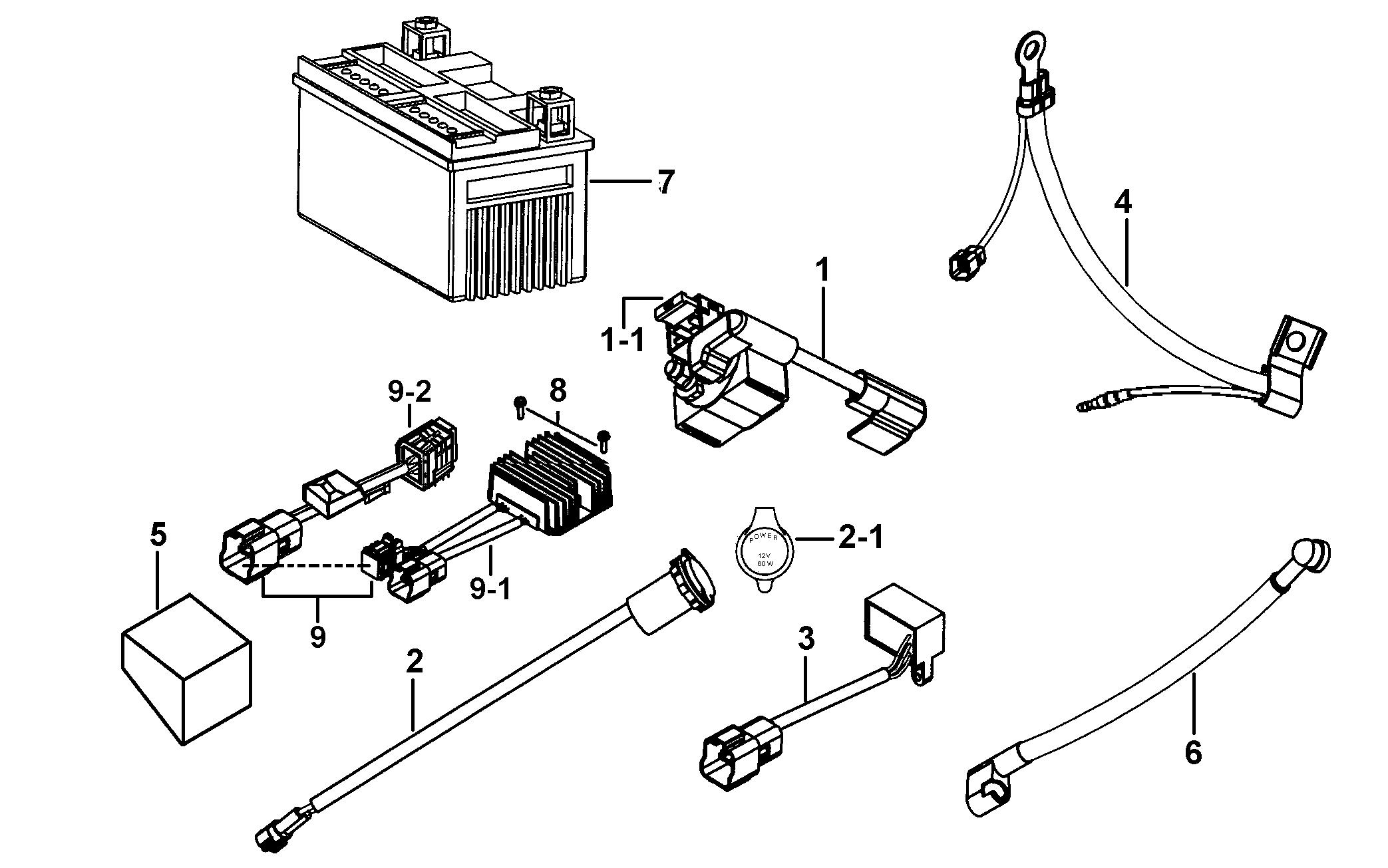 425c 120 Battery Regulator Cable Relay Rectifier