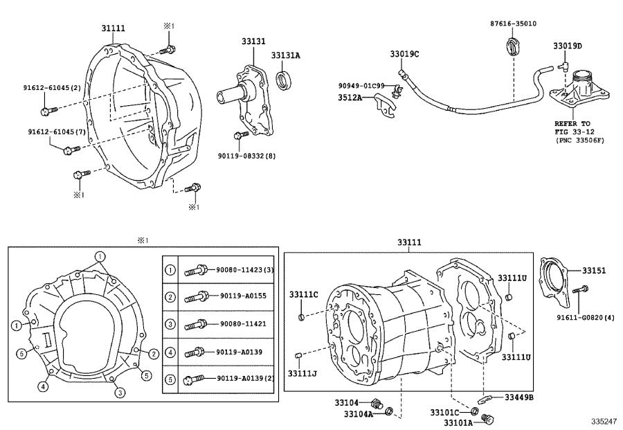 2006 Toyota Cover, clutch housing, no. 1. Transmission
