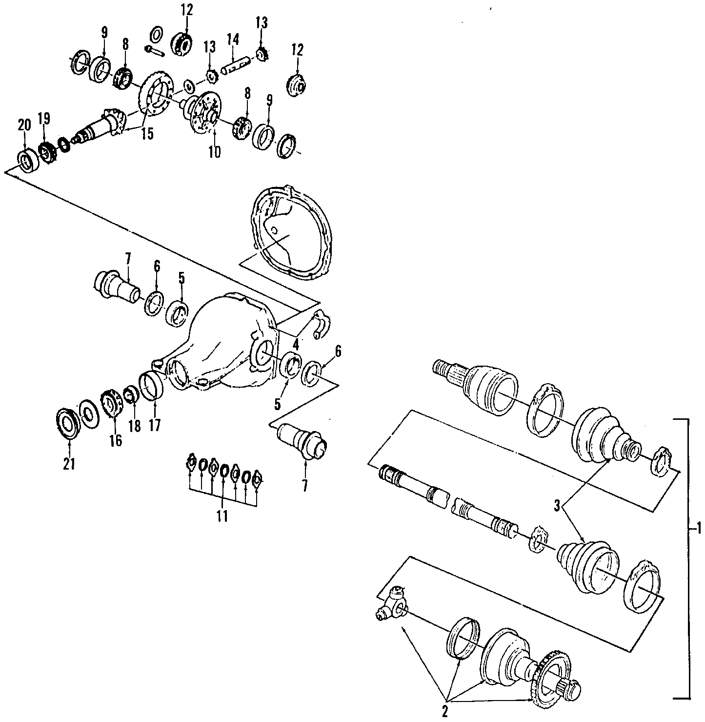 Ford Thunderbird Gear And Pinion Assembly