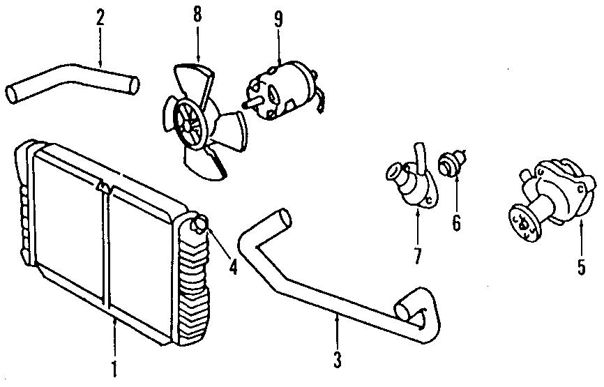 Ford Escort Engine Water Pump. DOHC, COOLING, LITER