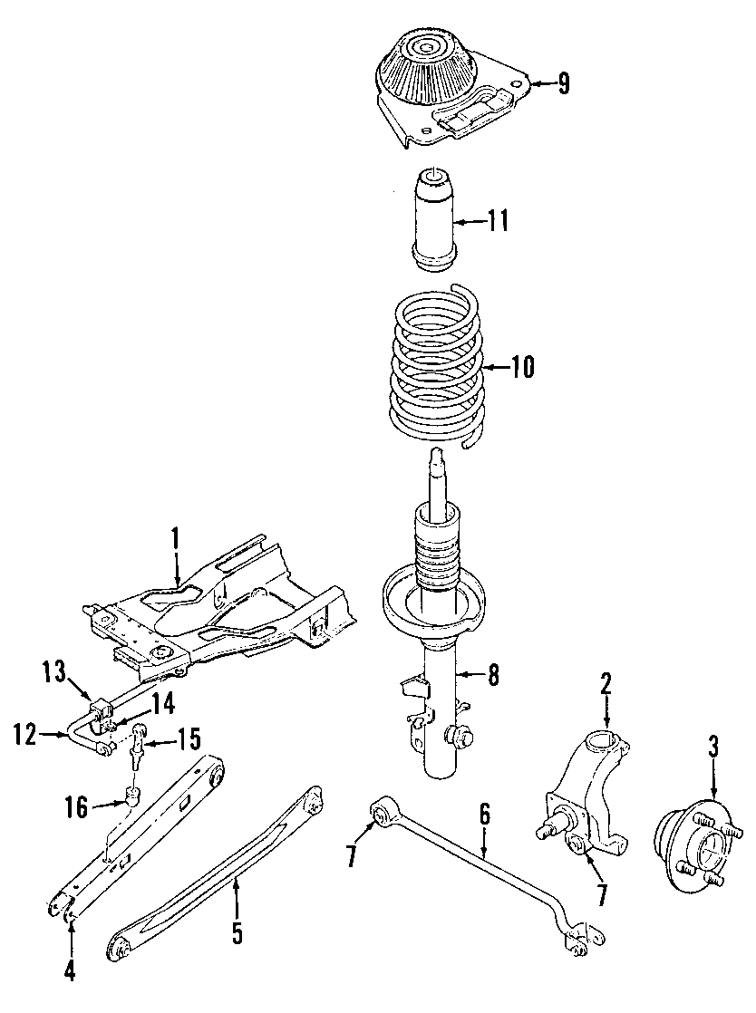 Mercury Cougar Suspension Control Arm (Rear, Lower
