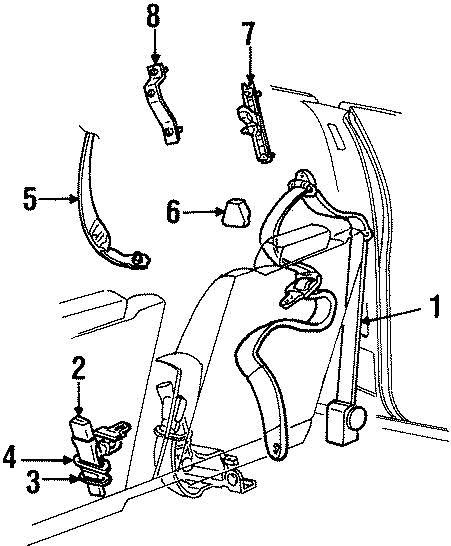 Ford Crown Victoria Seat Belt Lap and Shoulder Belt