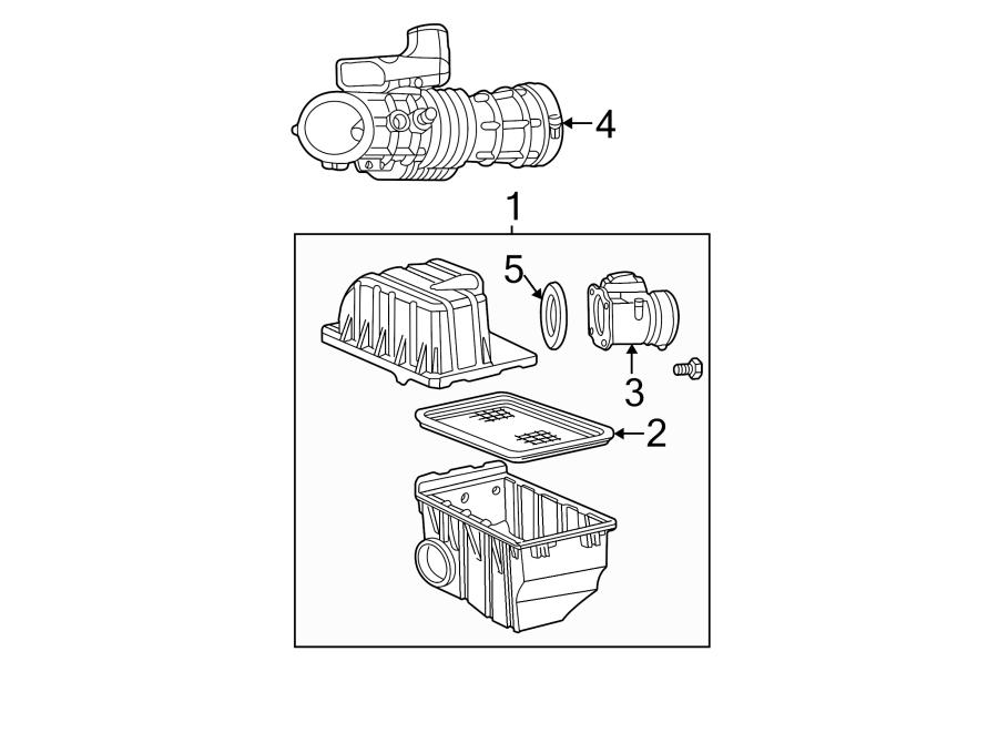 Ford Mustang Engine Air Intake Hose. 4.6 LITER, manual