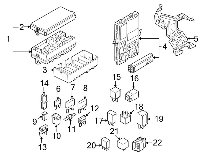 Ford Mustang Mount bracket. FUSE, Telematics, Lighting