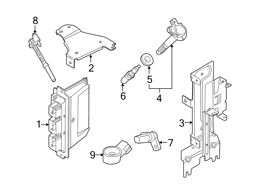 Ford Mustang Engine Camshaft Position Sensor. LITER