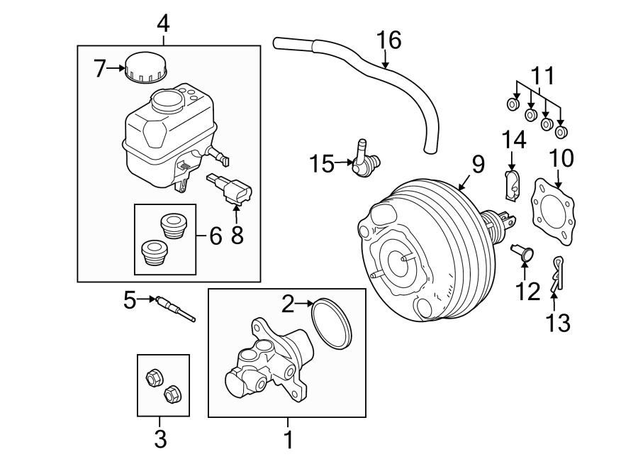 Ford Mustang Brake Master Cylinder Reservoir. Replace