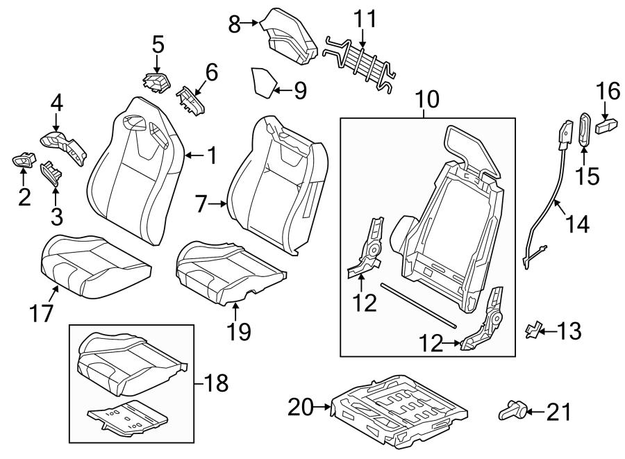 Ford Mustang Trim bezel. RECARO SEAT, front-outer. RECARO