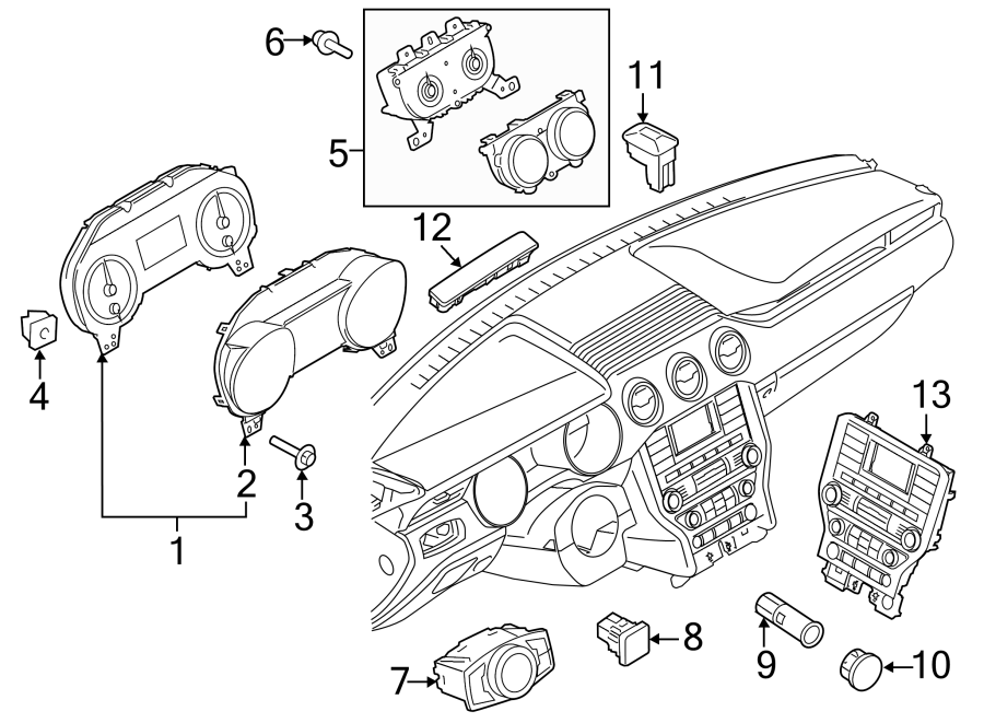 Ford Mustang Cluster ASSEMBLY. INSTRUMENT CLUSTER. Manual
