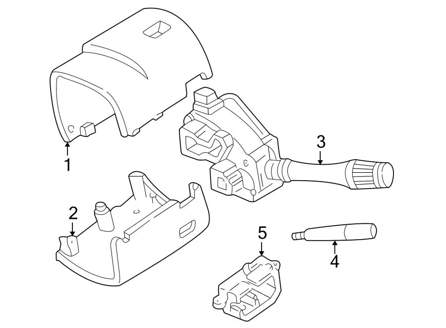 Ford Mustang Steering Column Tilt Adjuster. WHEEL, WTILT