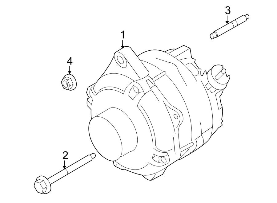 Ford Taurus X Alternator Stud. LITER, Mount, NON
