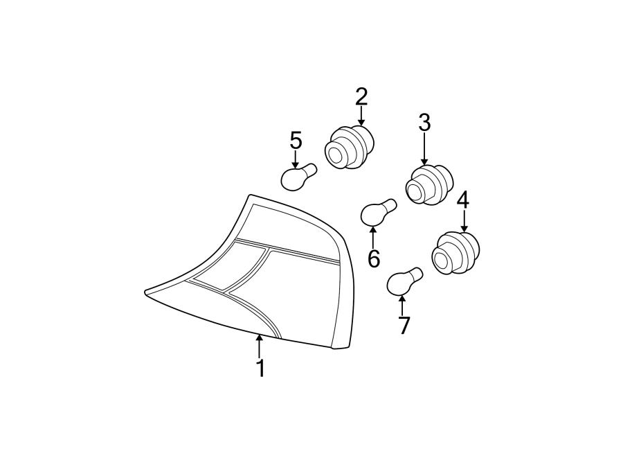 Ford Focus Socket. Bulb. Lamp. Signal. SEDAN, backup lamp