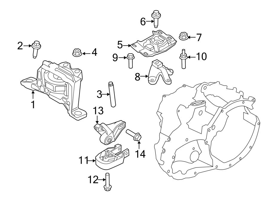 Ford Focus Manual Transmission Mount. ENGINE, Lower, LITER