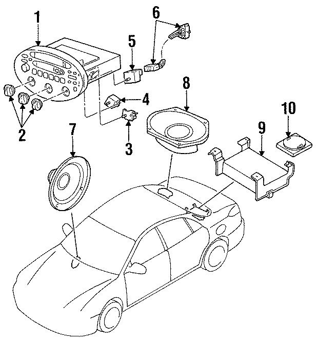 Ford Escort Speaker (Front, Rear). Door. Premium. W