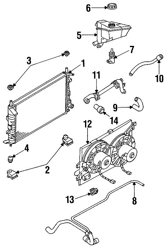 Ford Contour Engine Cooling Fan Resistor. 2.0 LITER. 2.5