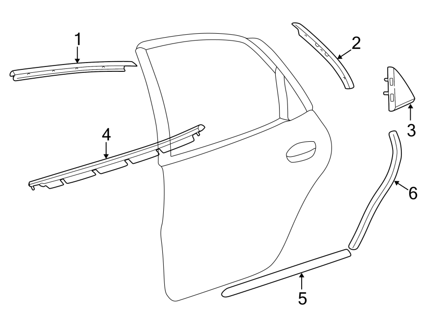 Ford Taurus Door Window Belt Weatherstrip. Sedan