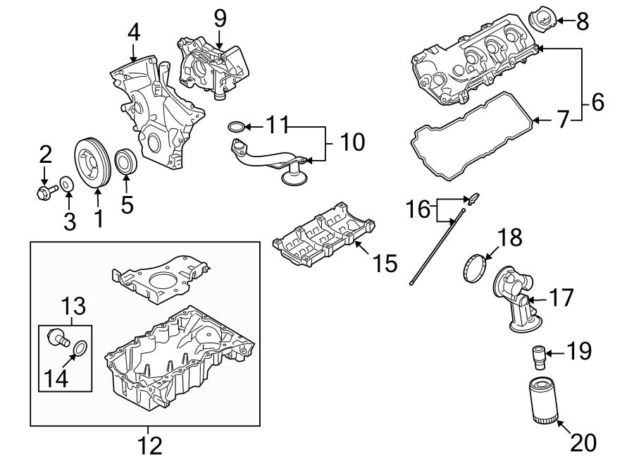 Ford Taurus Engine Oil Drain Plug. LITER, Incl, Gasket