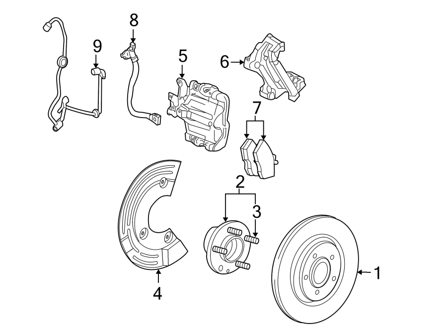 Ford Taurus Wheel Bearing and Hub Assembly. SUSPENSION