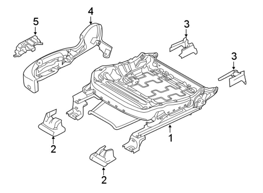 Ford Taurus Seat Trim Panel. MANUAL PASSENGER SEAT, 2013