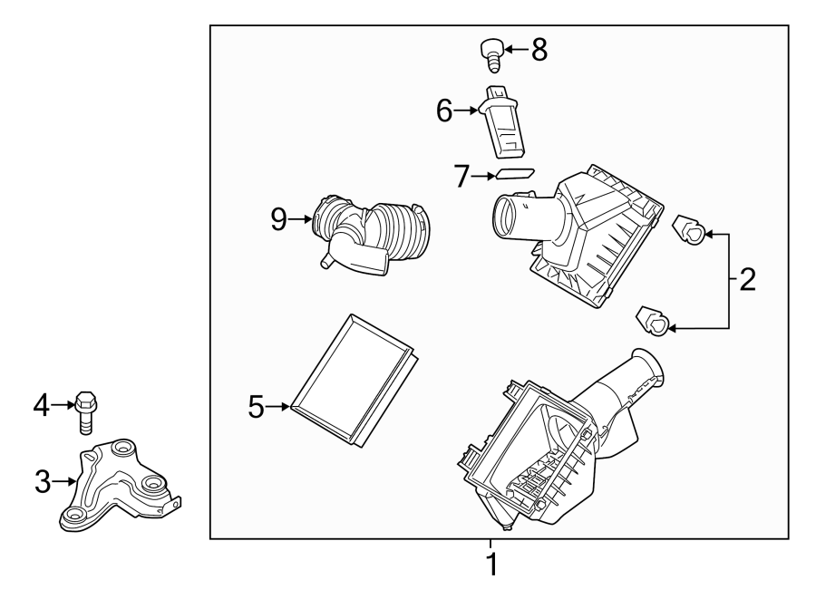 Ford Fusion Engine Air Intake Hose. 3.0 LITER. 3.0 LITER