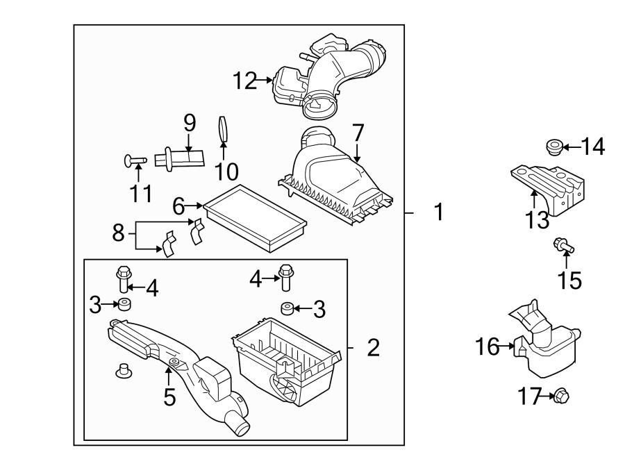 Ford Mustang Air Filter Housing Grommet. 3.5 LITER. 3.9