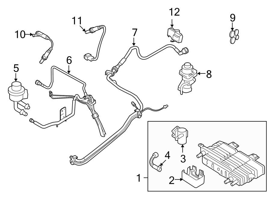 Ford Fusion Oxygen Sensor. EMISSION, Manual, Make