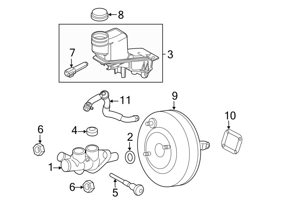 Ford Fusion Brake Master Cylinder Reservoir Pin. 2.5 LITER