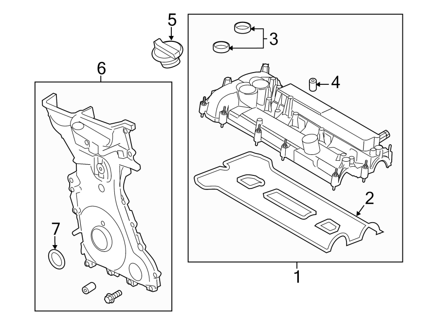 Ford Fusion Engine Valve Cover. LITER, BEARINGS, TIMING