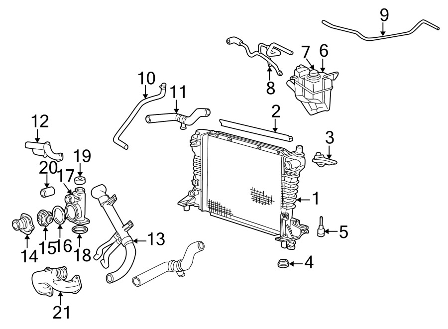 Ford Thunderbird Engine Coolant Outlet Gasket. Engine