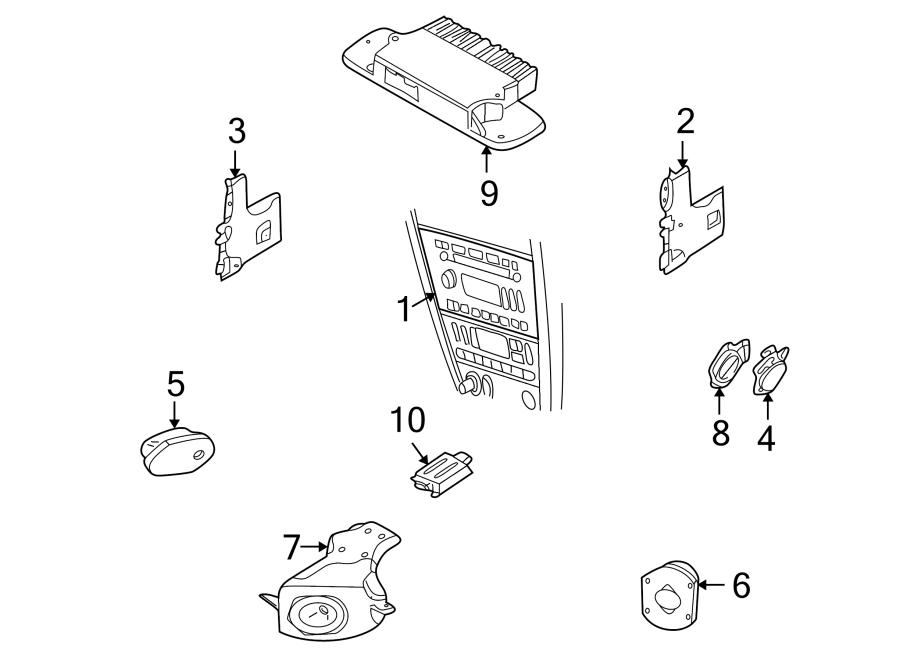Ford Thunderbird Speaker. Sound, Rear, System